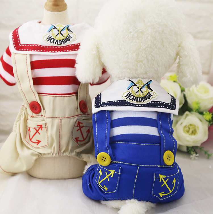 2017 the navy style new Design Wholesale Dog Clothes / Pet Clothes / Dog Apparel