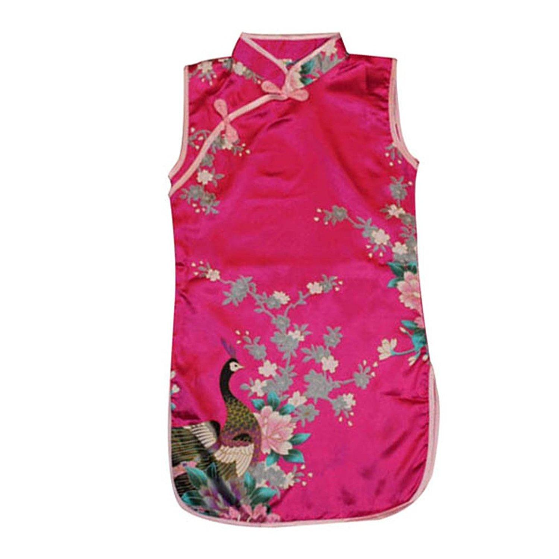 Norbi Toddler Baby Girls Chinese Flower Cheongsam Dress