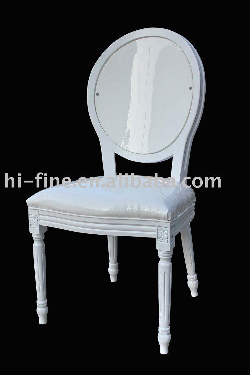 Louis Acrylic White Chair