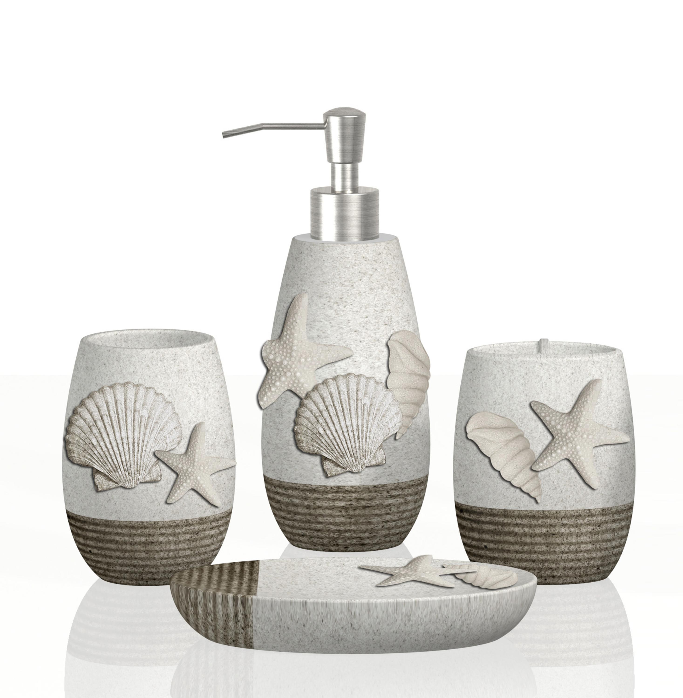 4 Pcs Bathroom Sets Sea Shell Style