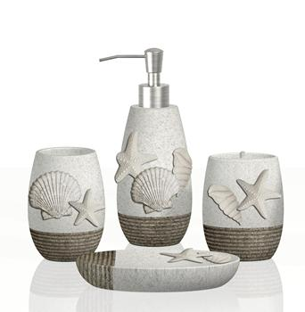 Amazing 4 Pcs Bathroom Sets Sea Shell Style Polyresin Bathroom Accessories Set Buy Sea Shell Bathroom Accessories Bathroom Set Product On Alibaba Com Download Free Architecture Designs Scobabritishbridgeorg