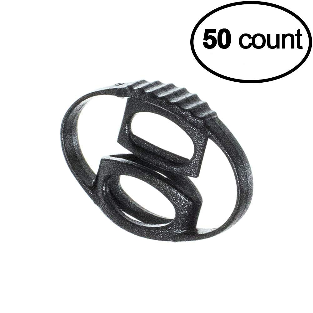 West Coast Paracord Oval Cord Locks – 50 Pack – No Spring