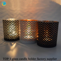 Froted laser glass candle holder