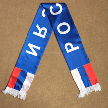 2018 Russia flag silk screen printing Russia flag football fan scarf