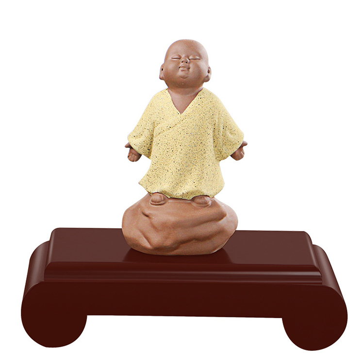 Base rectangular Buddha statue vase bonsai fish tank crafts ornaments wooden bracket can be customized