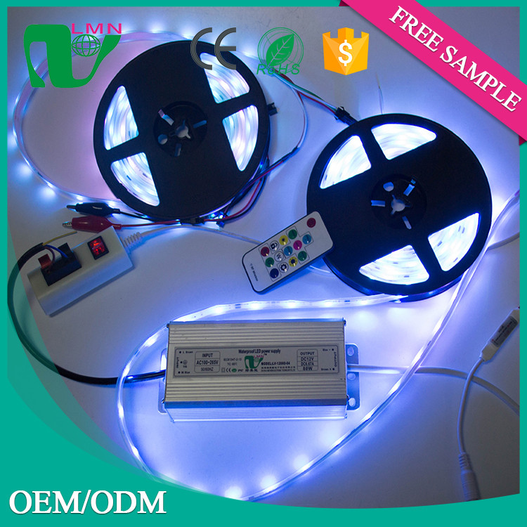 high quality 110V AC 5050 led strip light for jewelry store showcase and counter