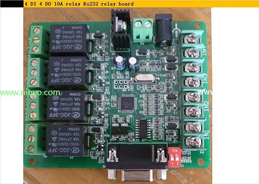 Buy 10a 4 Relay Output Di Input Control Board Smart Home