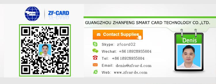 Conception personnalisée carte de visite avec code qr wechat