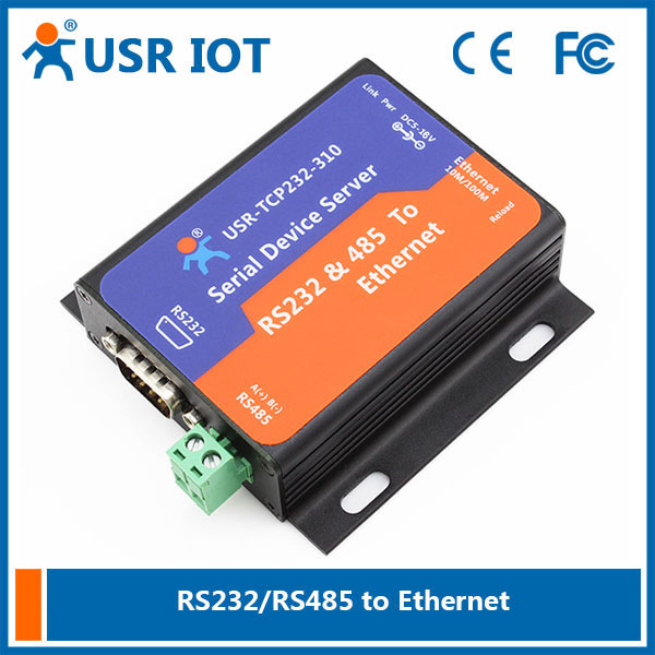 USR-TCP232-310 RS232 RS485 Interface, Serial to Etherent RJ45 Converter