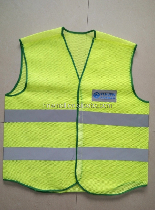 China Supplier Reflective Warning Safety Vest with Custom Print