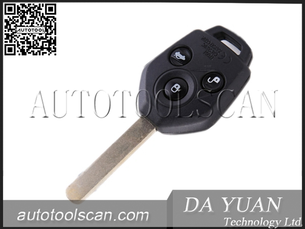 car key for Subaru Forester straight 3 button with 4D62 chip 433mhz AK034011