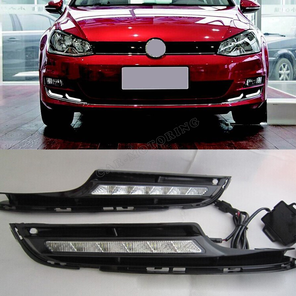 Golf MK7 ABS Car LED DRL Light,Auto Car Front Daytime