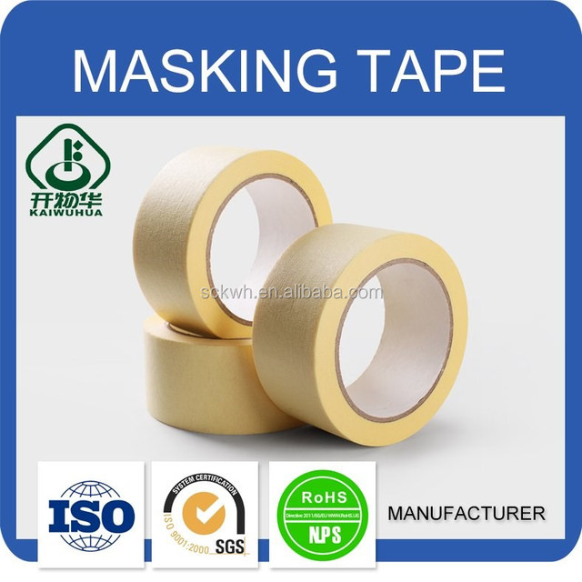 Free samples top quality adhesive glue masking tape for waterproofing walls