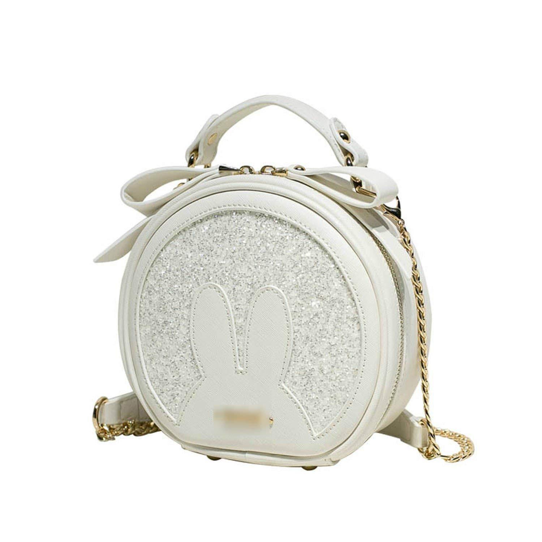 176c0f71cb00 Mini bags rabbit ear round PU leather Cute lady Shoulder Messenger Bag  Female bag