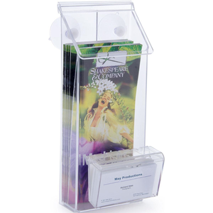 With Business Card Holder Glass Mount With Suction Cups Included Wall Mount Outdoor Door Waterproof Acrylic Brochure Holder