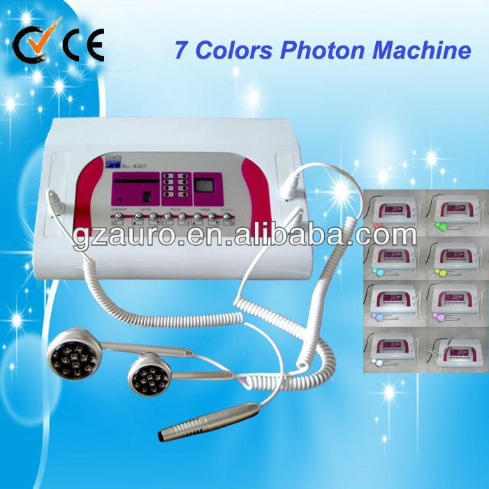 Au-8307 photon 7 color led photon light therapy skin care machine