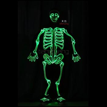 Skelet Voor Halloween.Verlichte Skelet Halloween Kostuum Outfit Niet El Draad Buy Skelet Botten Halloween Horor Kostuum Skelet Halloween Kostuum Outfit Mannequin Draad