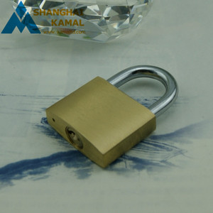 Keyed alike brass padlock, same keys for all padlocks