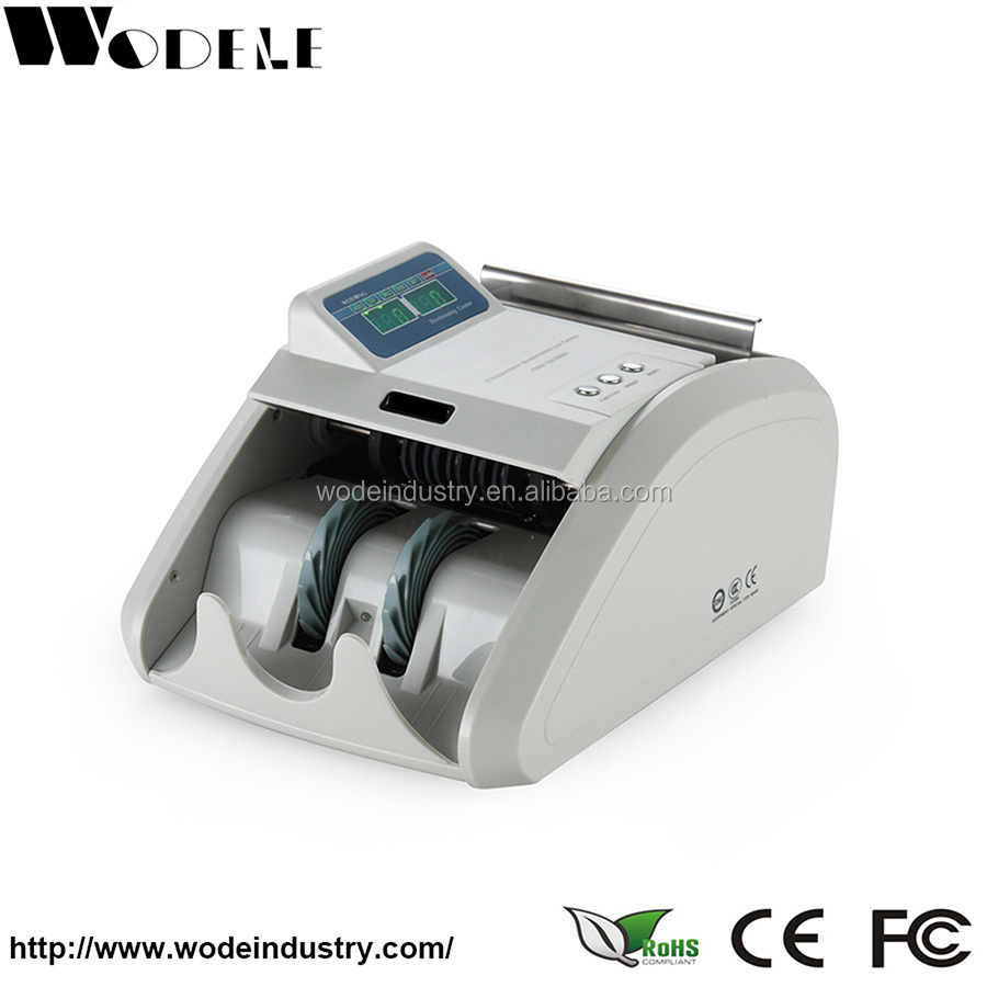 WD-8120C supermarket money counter/ bank cash counter/ multi currency bill counter