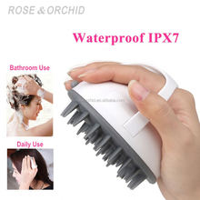 Promotional hand held head massage vibrator for head washing