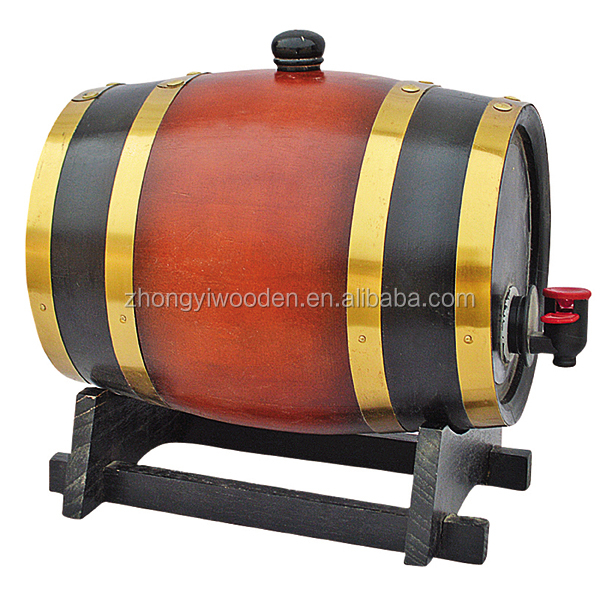 factory sale FSC christmas 5L wooden beer liquor wine whiskey barrels with foil inner
