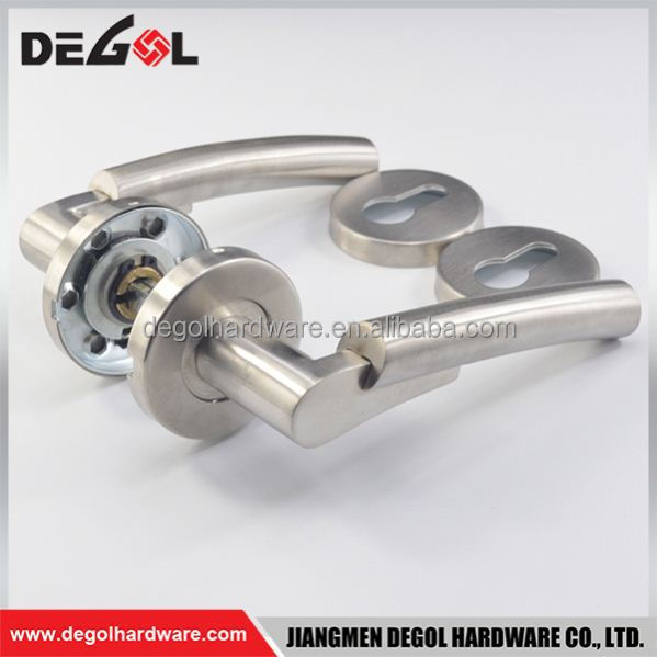 Wholesale alibaba double sided stainless steel tube steel hand made door handle