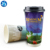 Custom logo printed disposable double wall hot bamboo coffee paper cup