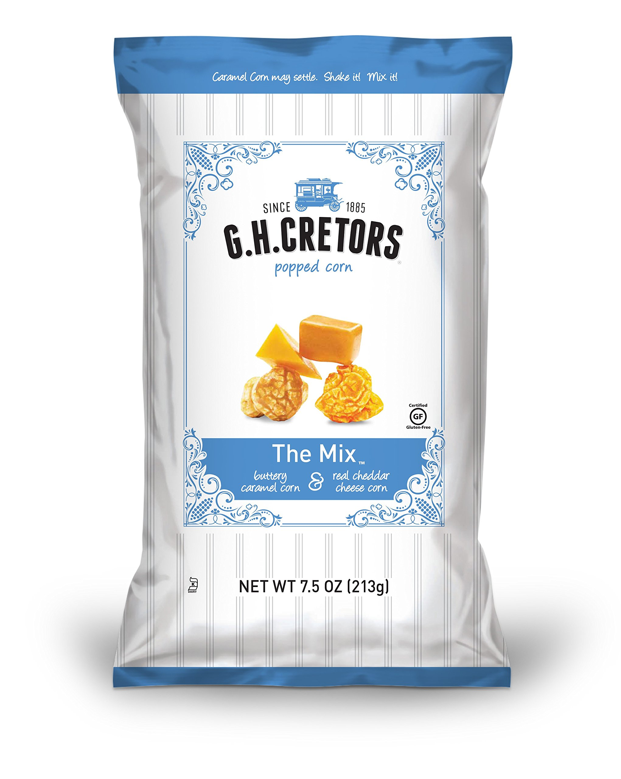 G.H. Cretors Popcorn, The Mix, 7.5-Ounce Bags (Pack of 12)