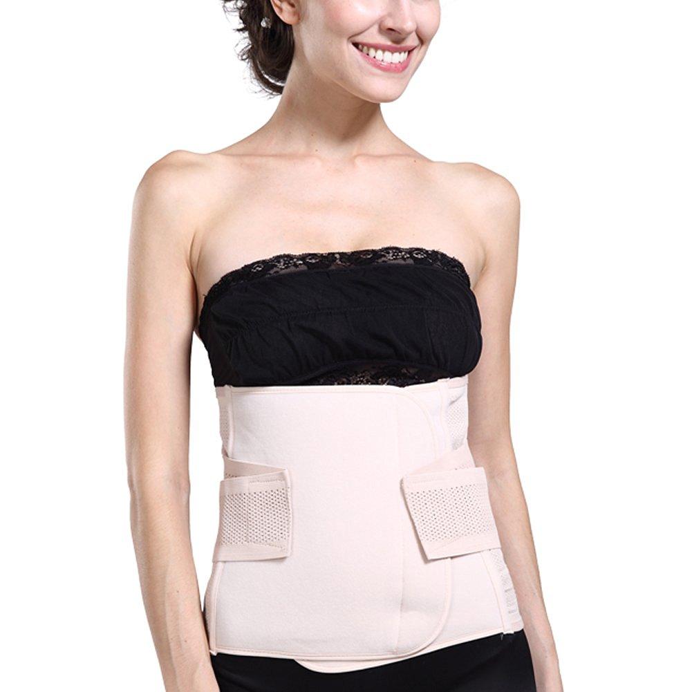 Adjustable Breathable Abdominal Velcro Binder Corset Belt Staylace Postnatal Recovery Abdomen Support Girdle Belly Waist Slimming Shaper Wrapper