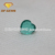 Fashion high quality heart shape natural gems two flat back green glass gemstone