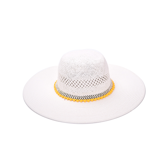 White Round Women Floppy Sun Hat