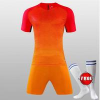 Custom Team Kids Breathable Soccer Set 2018 2019 Soccer Jerseys Uniforms Children Football Kit Shirt Tracksuit