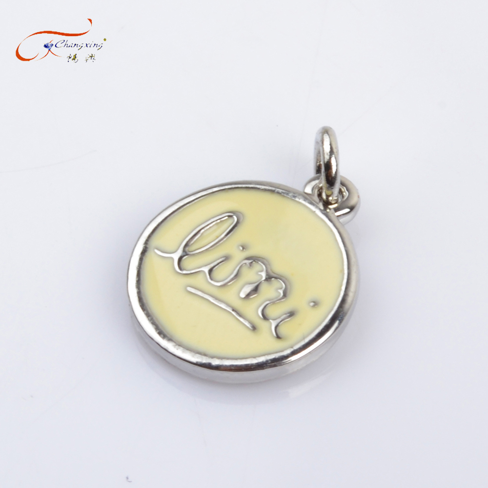 Wholesale custom made logo engraved jewelry charms