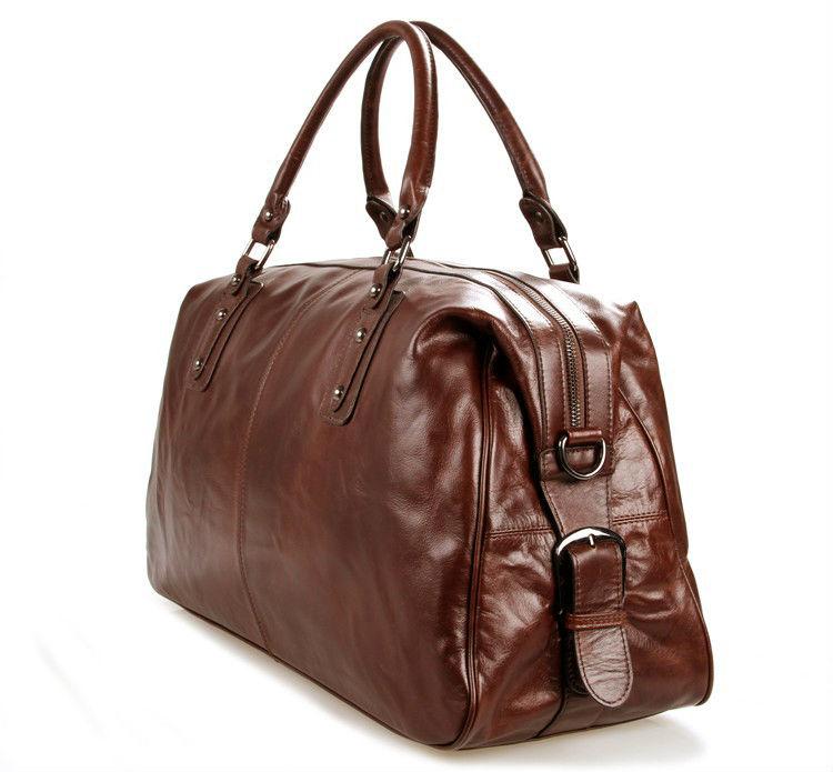 5cbabca0ff High Class Genuine Leather Travel bag Men duffel bag Genuine Leather  luggage bag Carry On Handbag Large Shoulder Bag Weekend