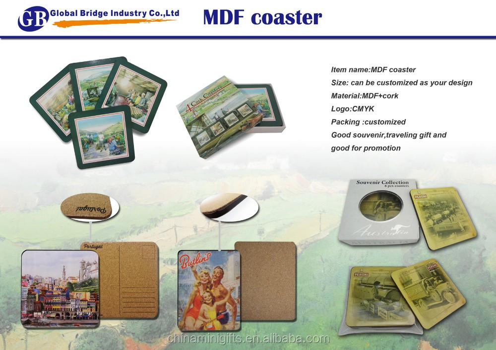 China cheap new style handcrafted wooden coasters With Bottom Price