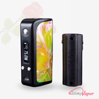 Factory price e cigarette box mod kit original 100% DNA 75w legend resin 75 18650 26650 battery mod vapor