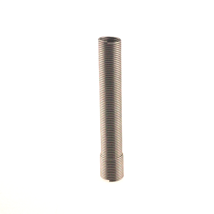 Helical tube extension spring
