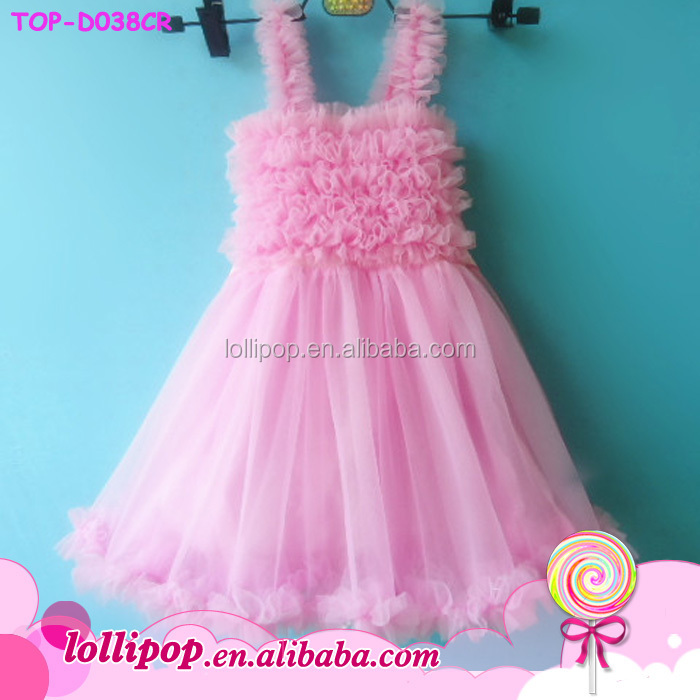 Cotton Baby Girl frock design Boutique mint color Dress ruffled tutu Chiffon Baby tulle flutter long sleeve dress