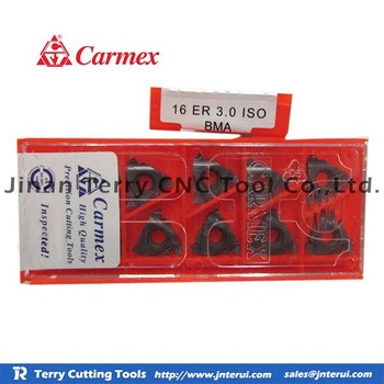 Distributors Original Taegutec Carbide Insert For Cnc Tool Holder Carmex 16  Er 3 0 Iso Bma - Buy Indexable Carbide Turning Tools,Inserts Coated With