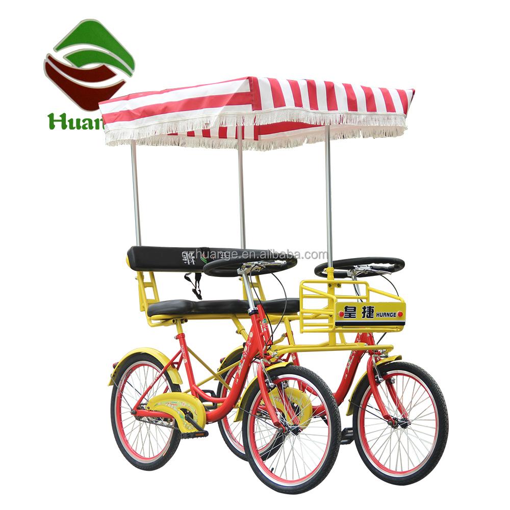 22 pollice surrey bici a due posti tandem bike noleggio a for Bicicletta per tre persone
