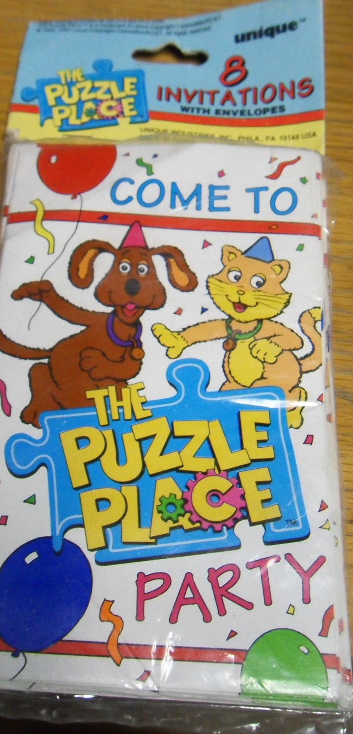 Vintage the Puzzle Place Invitations with Envelopes (8ct) Vintage Collectable