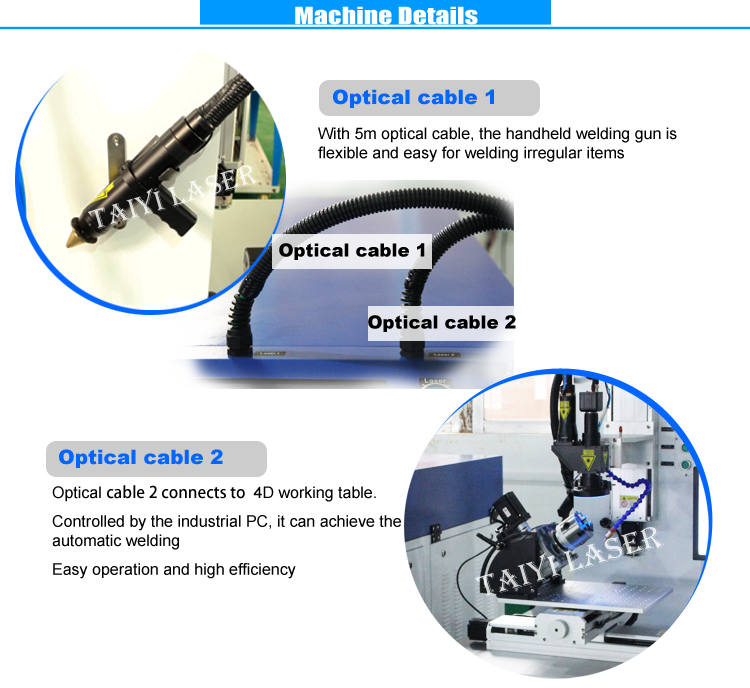 Industrial Water Cooling Fiber Optic Cable Laser Automatic