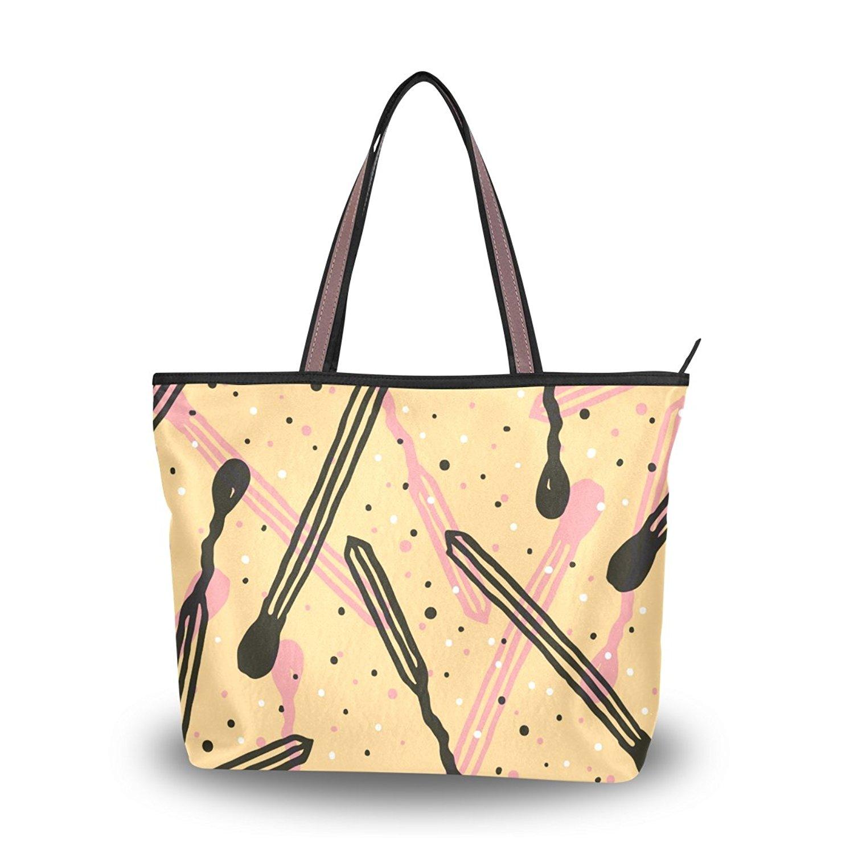 WIHVE Women's Shoulder Bag Satchel Handbags Graffiti Travel Tote Purse