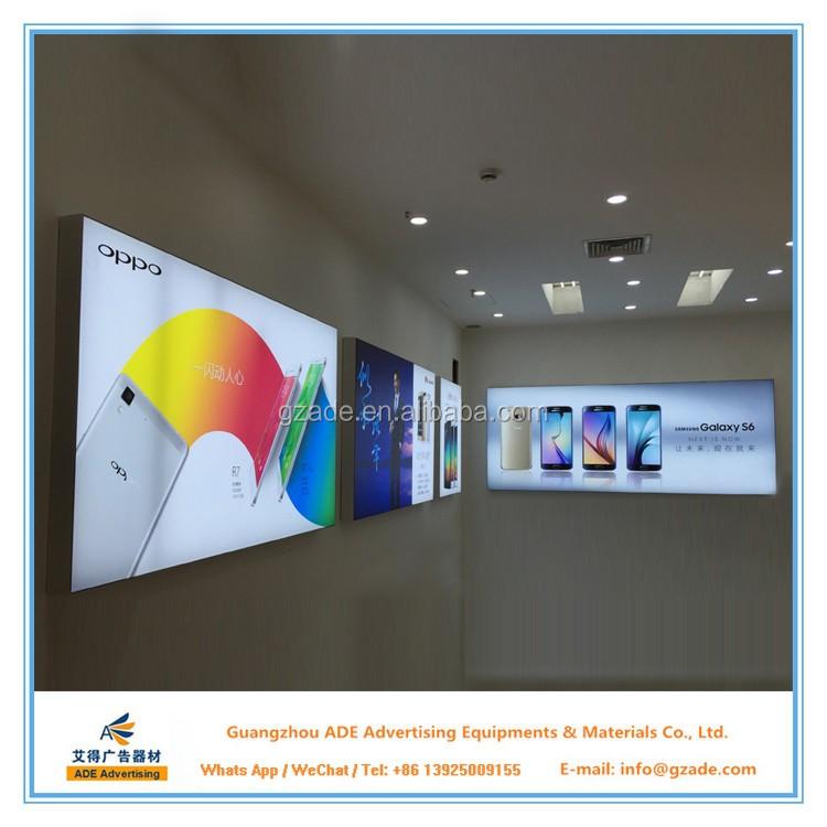 Wall Mounted Single Side Fabric Frameless Advertising Led Aluminum ...