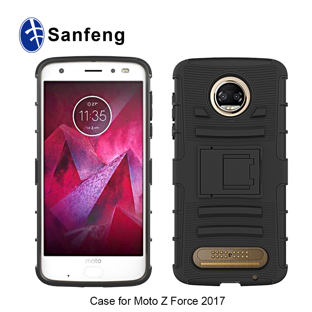 online retailer 84068 5636e Durable Rugged Tpu + Pc 2 In 1 Hybrid Case For Moto Z Force 2 Kickstand  Belt Clip Phone Cover For Motorola Moto Z2 Force - Buy Tpu + Pc Case For  Moto ...