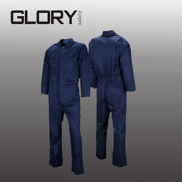 Dark Blue Navy 100% Cotton Wholesale Construction Workwear Coverall
