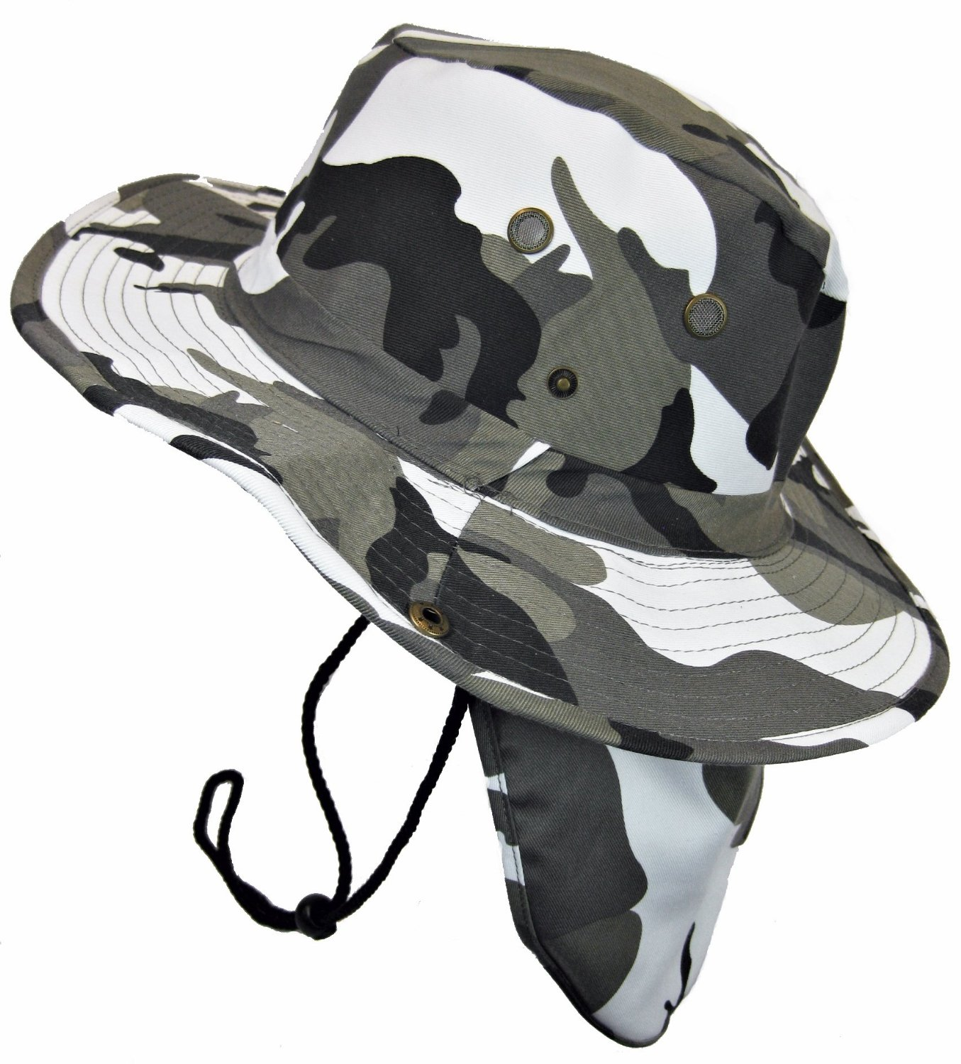 d13ccd26 Military Camouflage Boonie Bush Safari Outdoor Fishing Hiking Hunting  Boating Snap Brim Hat Sun Cap with