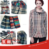 Latest fashion design polyester plaid trench coat fabric