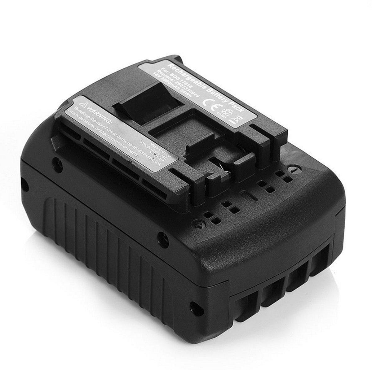 ZTHY 18V 3000mAh Power Tool Battery For Bosch 17618 BAT609 BAT618 2 607 336 092