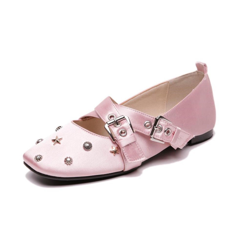 Baqijian Spilt Leather Shoes Women Soft Women Loafers Slip-On Flat Shoes Women Flats Ballet Shoes
